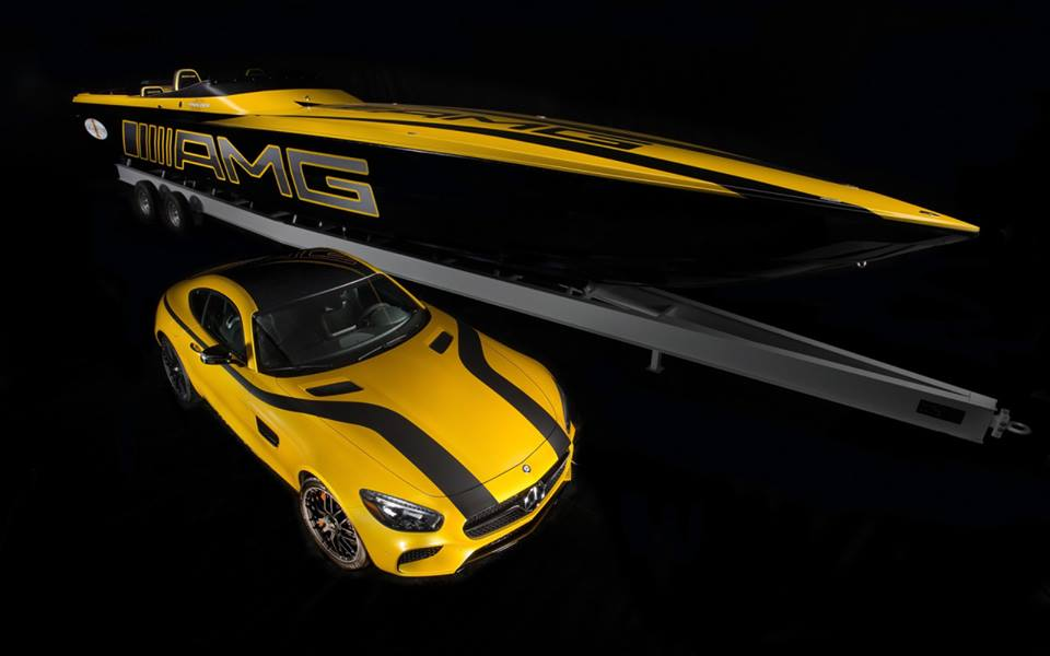 Mercedes AMG and AMG fast boat